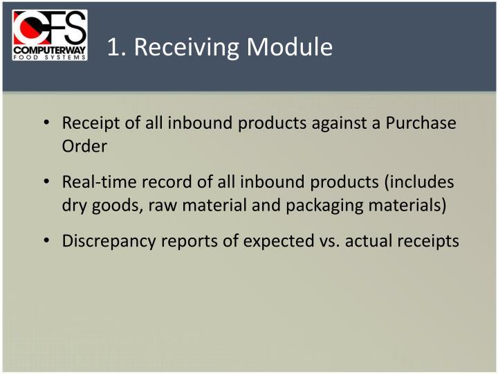 1. Receiving Module