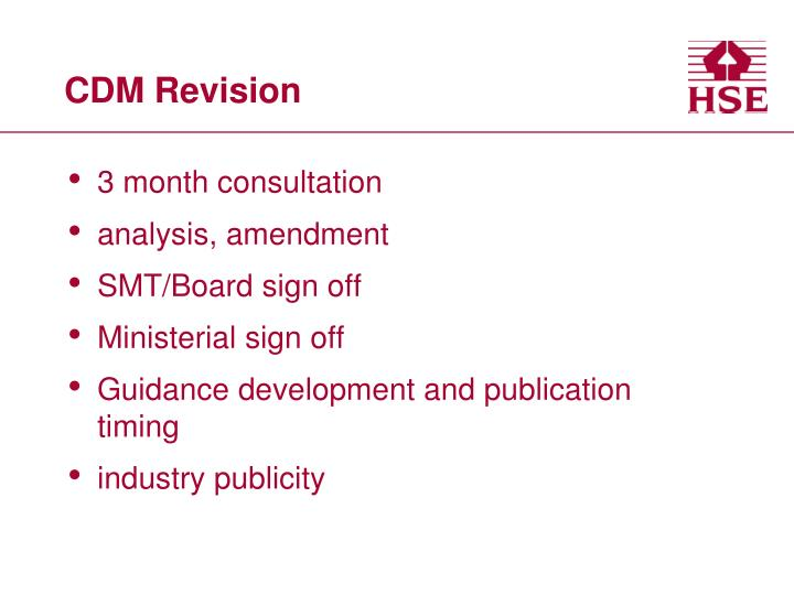 CDM Revision