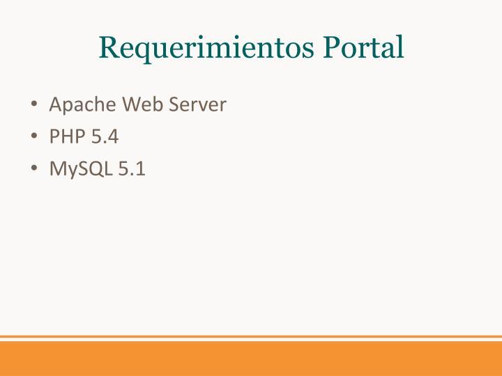 Requerimientos Portal