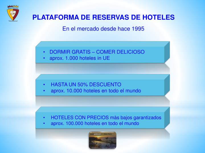 PLATAFORMA DE RESERVAS DE HOTELES