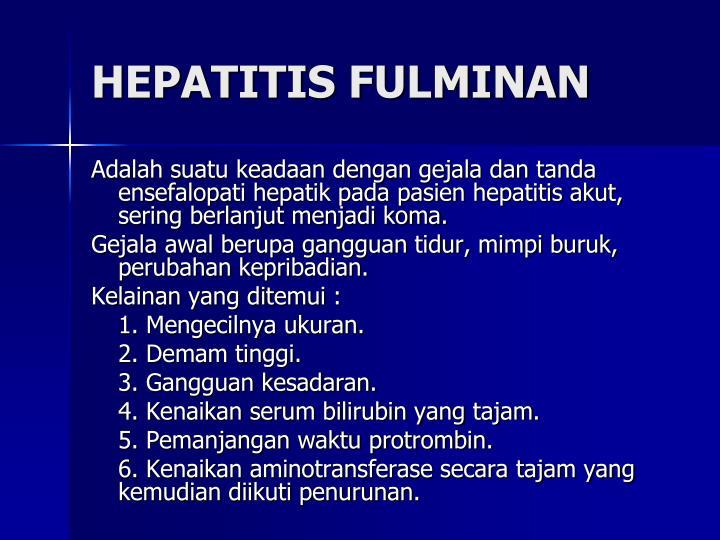 HEPATITIS FULMINAN