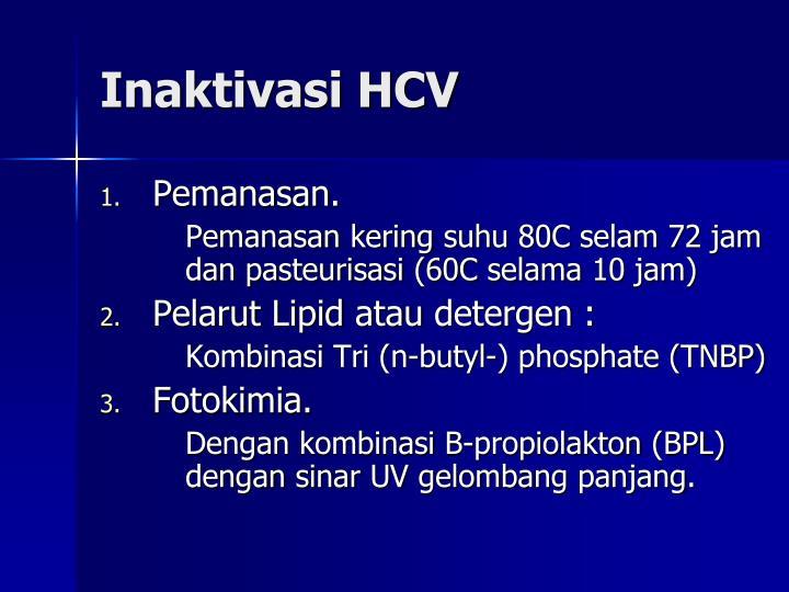Inaktivasi HCV