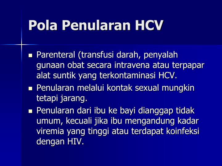 Pola Penularan HCV