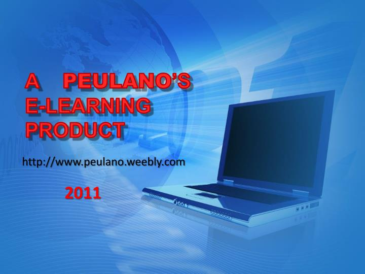 A peulano s e learning product
