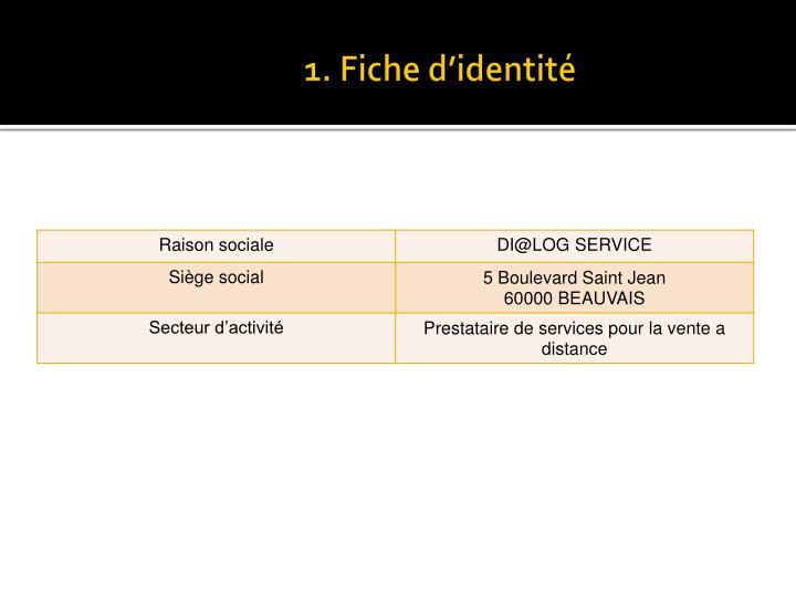 1. Fiche d'identité