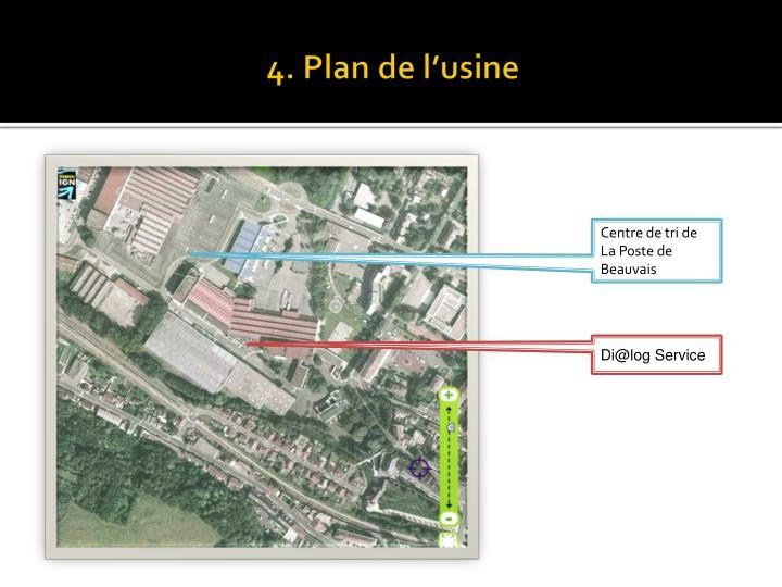 4. Plan de l'usine