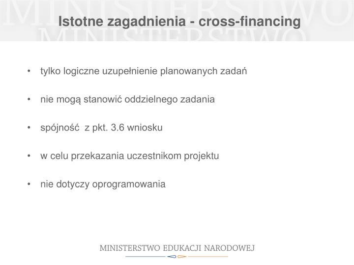 Istotne zagadnienia - cross-financing