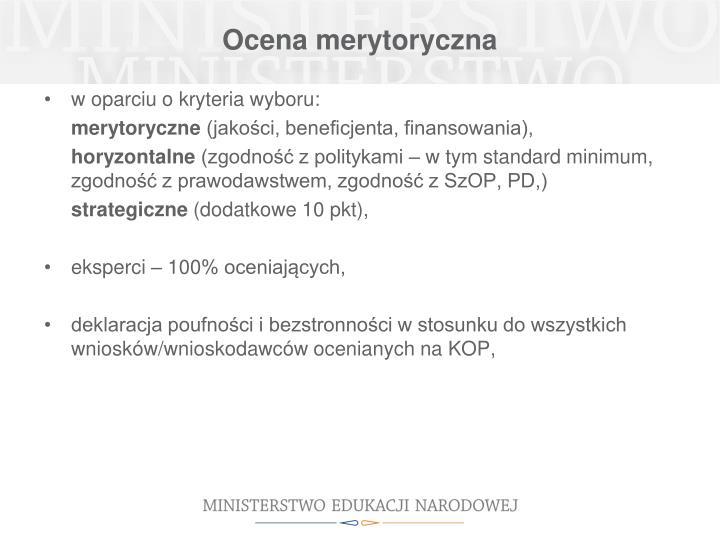 Ocena merytoryczna