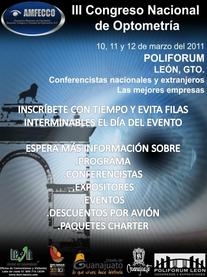 INSCRÍBETE CON TIEMPO Y EVITA FILAS INTERMINABLES EL DÍA DEL EVENTO