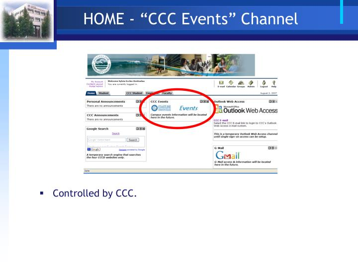 "HOME - ""CCC Events"" Channel"