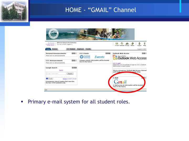 "HOME - ""GMAIL"" Channel"