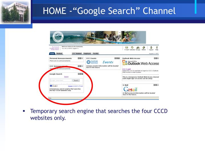 "HOME -""Google Search"" Channel"