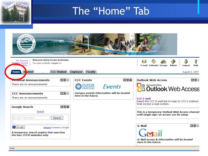 "The ""Home"" Tab"