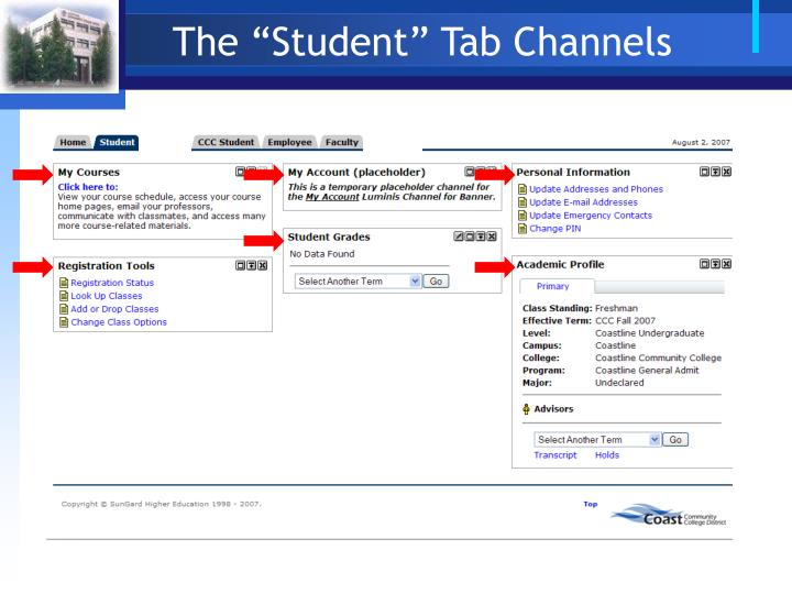 "The ""Student"" Tab Channels"