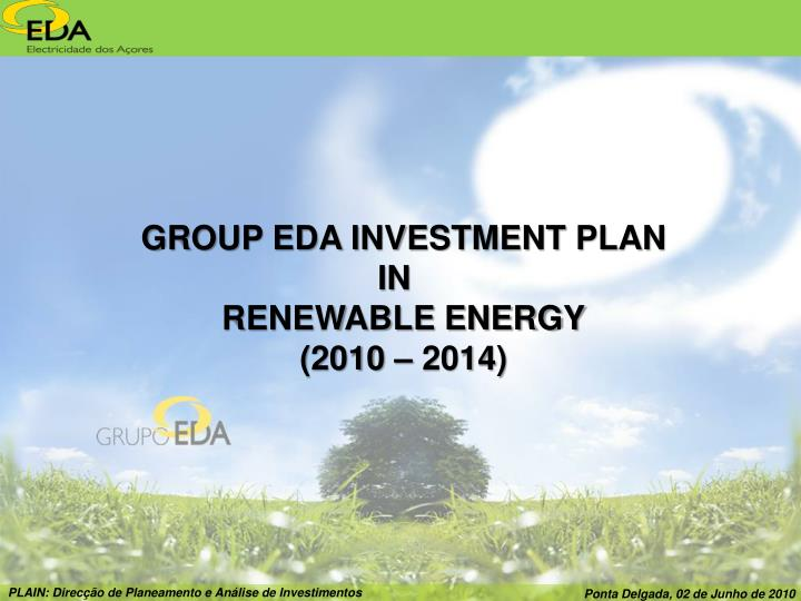 GROUP EDA INVESTMENT PLAN
