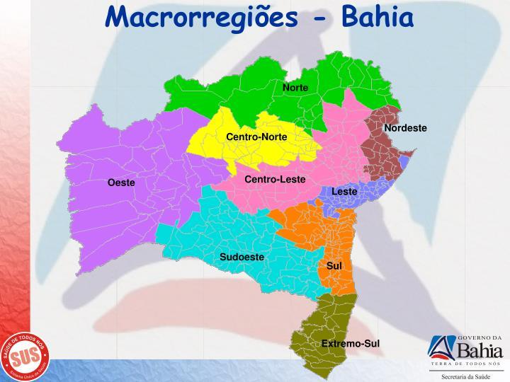 Macrorregiões - Bahia