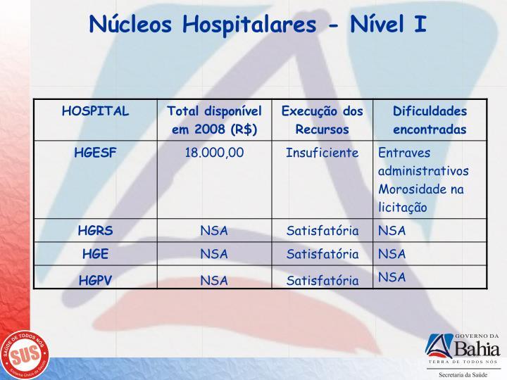 Núcleos Hospitalares - Nível I