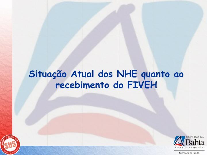 Situação Atual dos NHE quanto ao recebimento do FIVEH