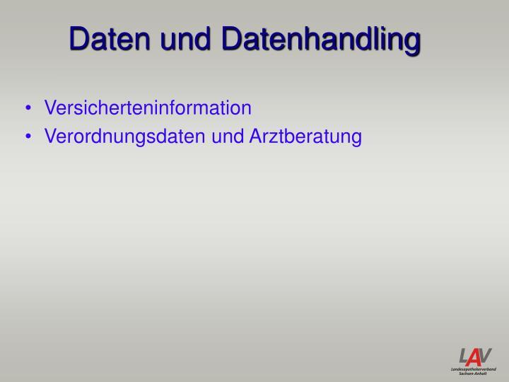 Daten und Datenhandling