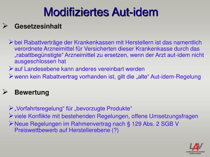 Modifiziertes Aut-idem