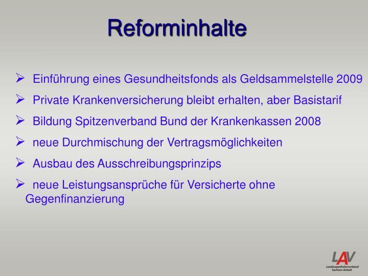 Reforminhalte