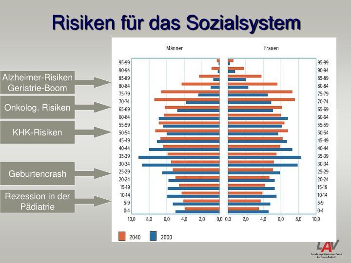 Risiken für das Sozialsystem
