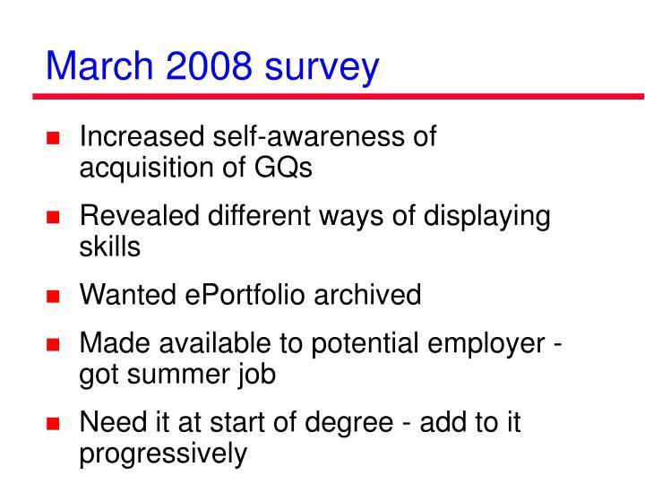 March 2008 survey
