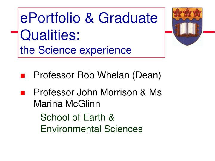 EPortfolio & Graduate Qualities: