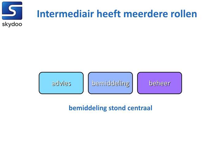 Intermediair heeft meerdere rollen
