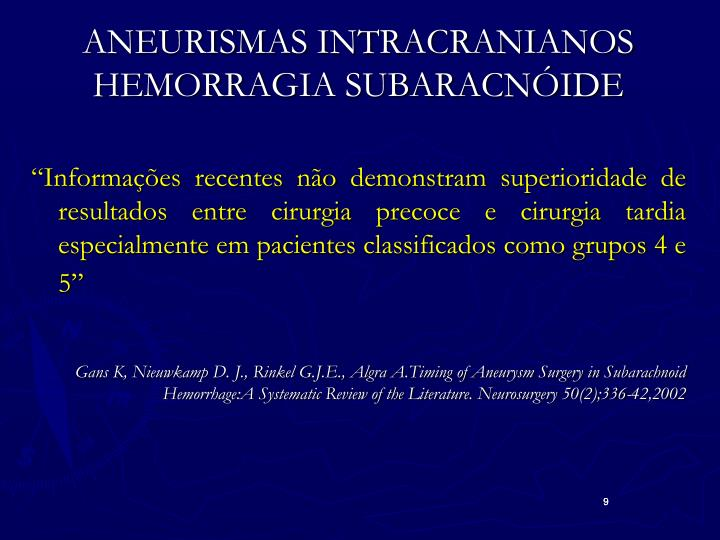 ANEURISMAS INTRACRANIANOS