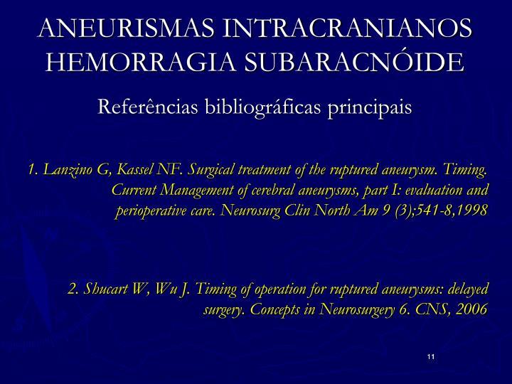 ANEURISMAS INTRACRANIANOS HEMORRAGIA SUBARACNÓIDE