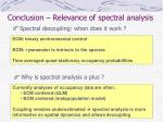 conclusion relevance of spectral analysis