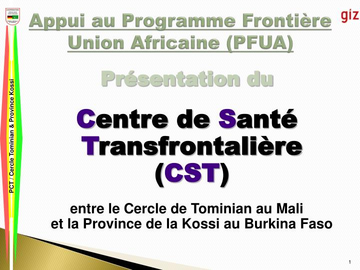 Appui au programme fronti re union africaine pfua