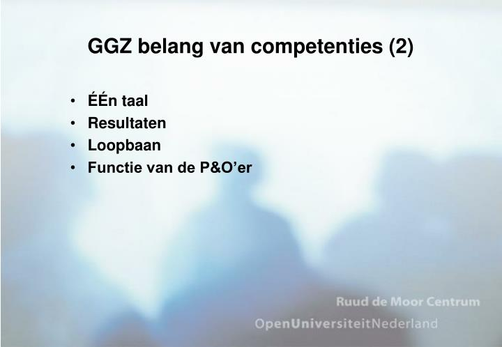 GGZ belang van competenties (2)