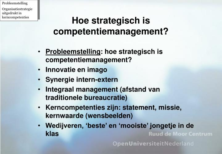 Hoe strategisch is competentiemanagement?