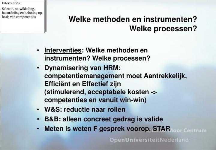 Welke methoden en instrumenten?
