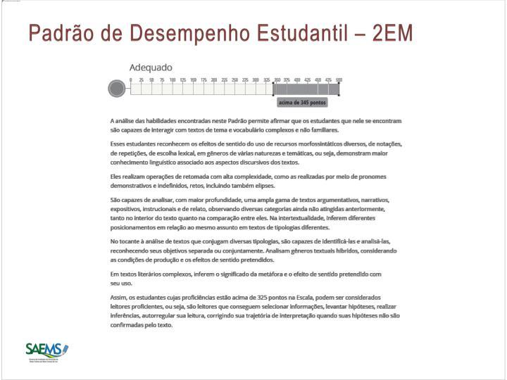 Padrão de Desempenho Estudantil – 2EM