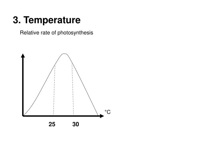Relative rate of photosynthesis