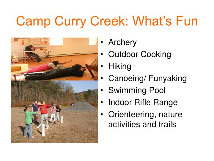 Camp Curry Creek: What's Fun