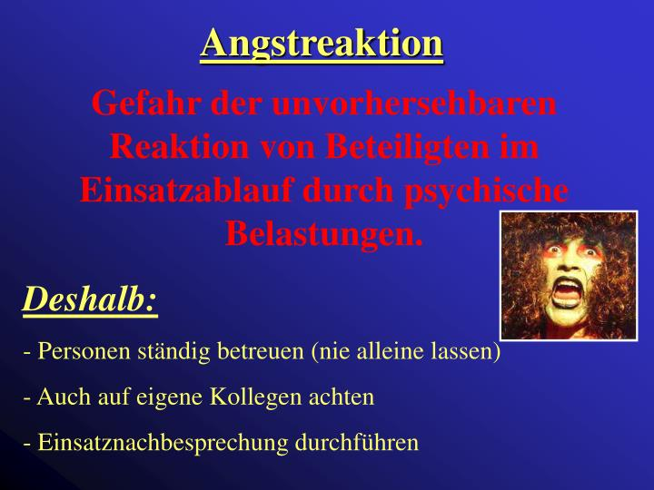 Angstreaktion