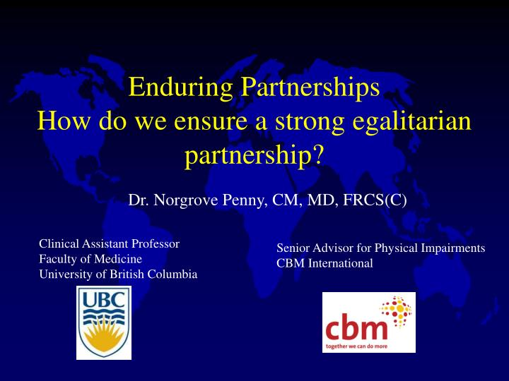 Enduring Partnerships