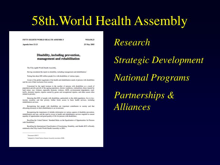 58th.World Health Assembly