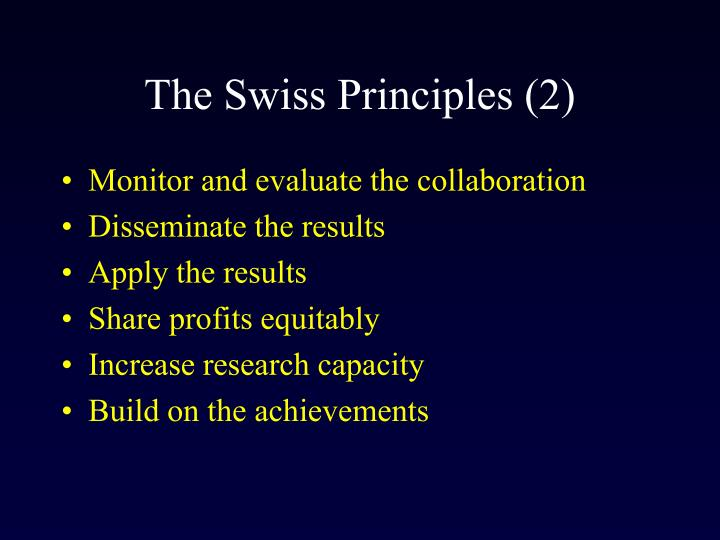 The Swiss Principles (2)