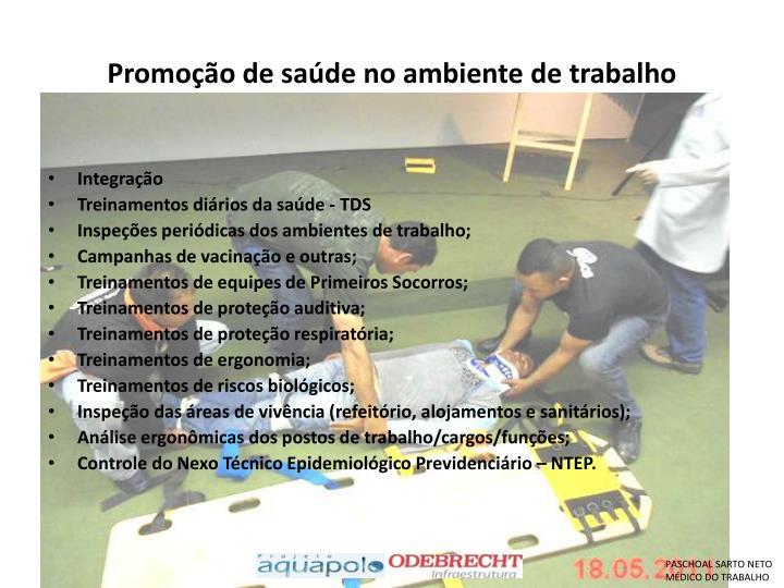 Promoção de saúde no ambiente de trabalho