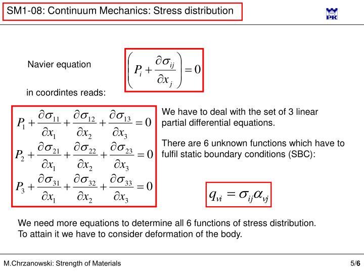 Navier equation