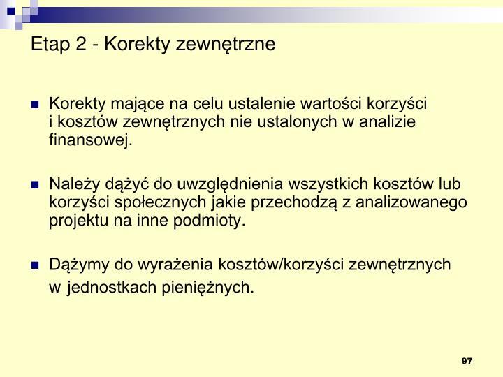 Etap 2 - Korekty zewnętrzne