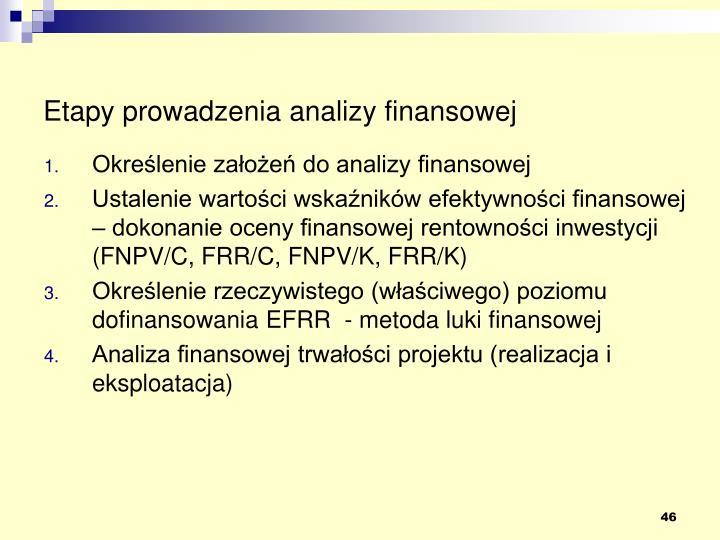 Etapy prowadzenia analizy finansowej