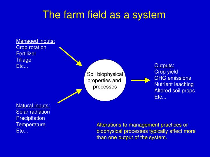 The farm field as a system