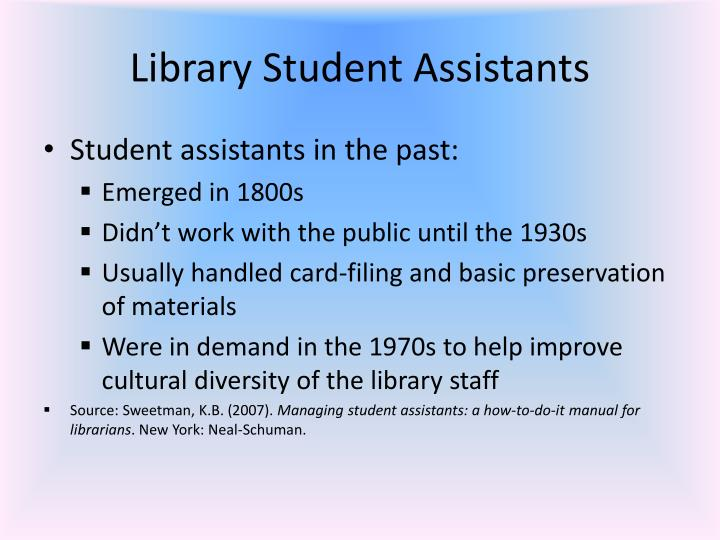 Library Student Assistants
