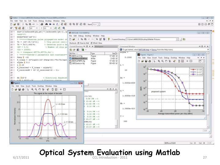 Optical System Evaluation using Matlab